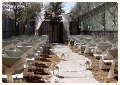 garden room wedding